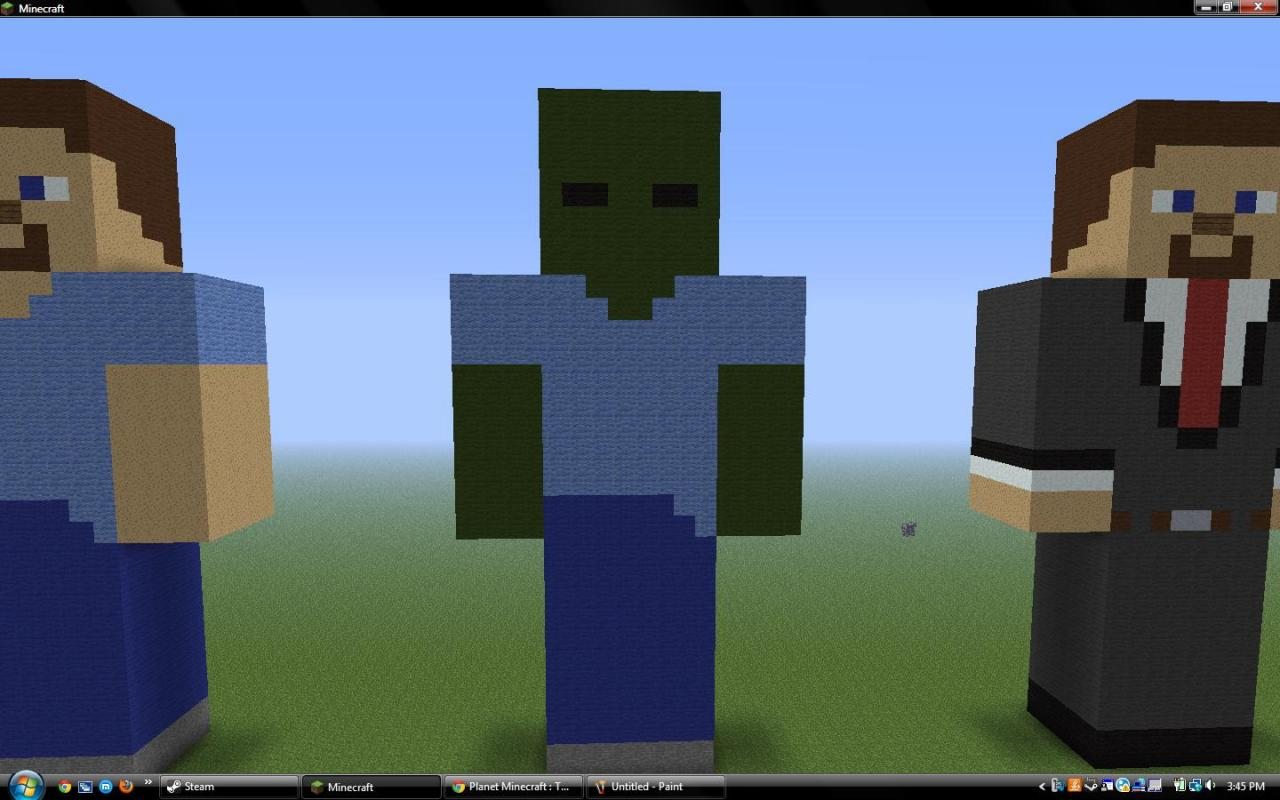 statue8bit art collection minecraft project