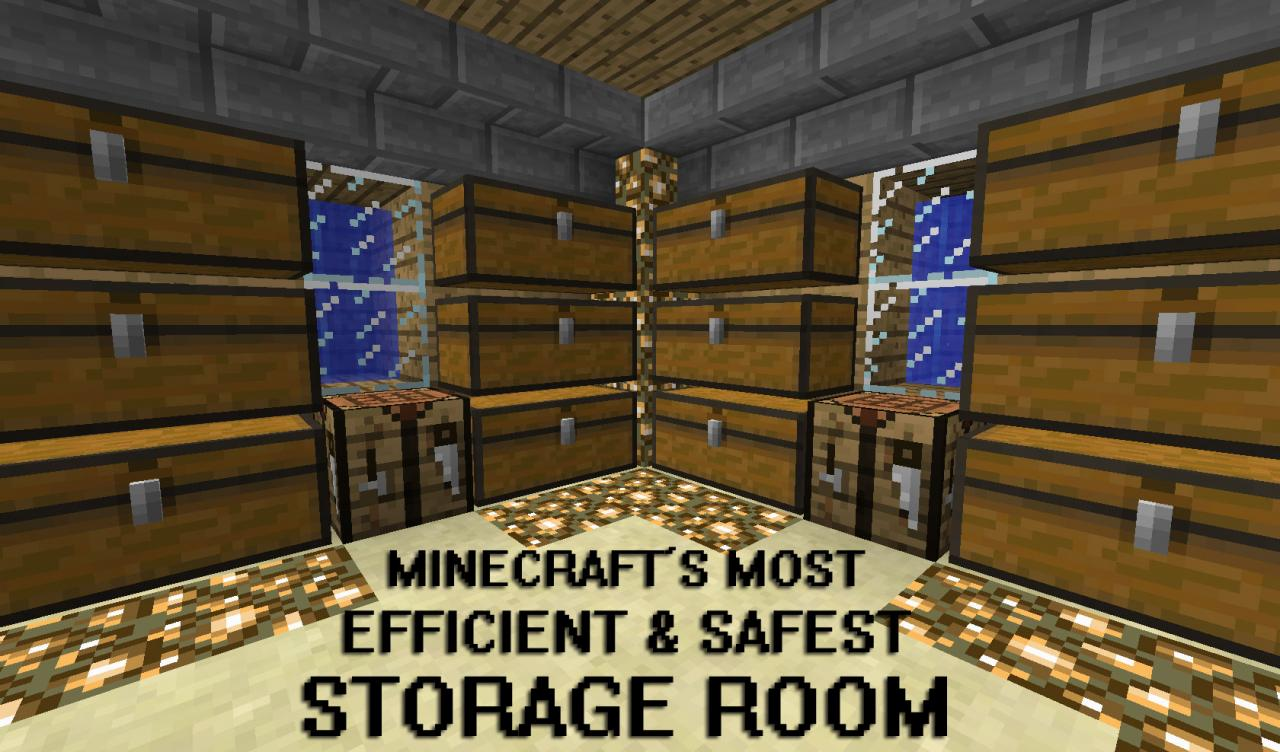 How To Make An Efficient Storage Room Minecraft Blog