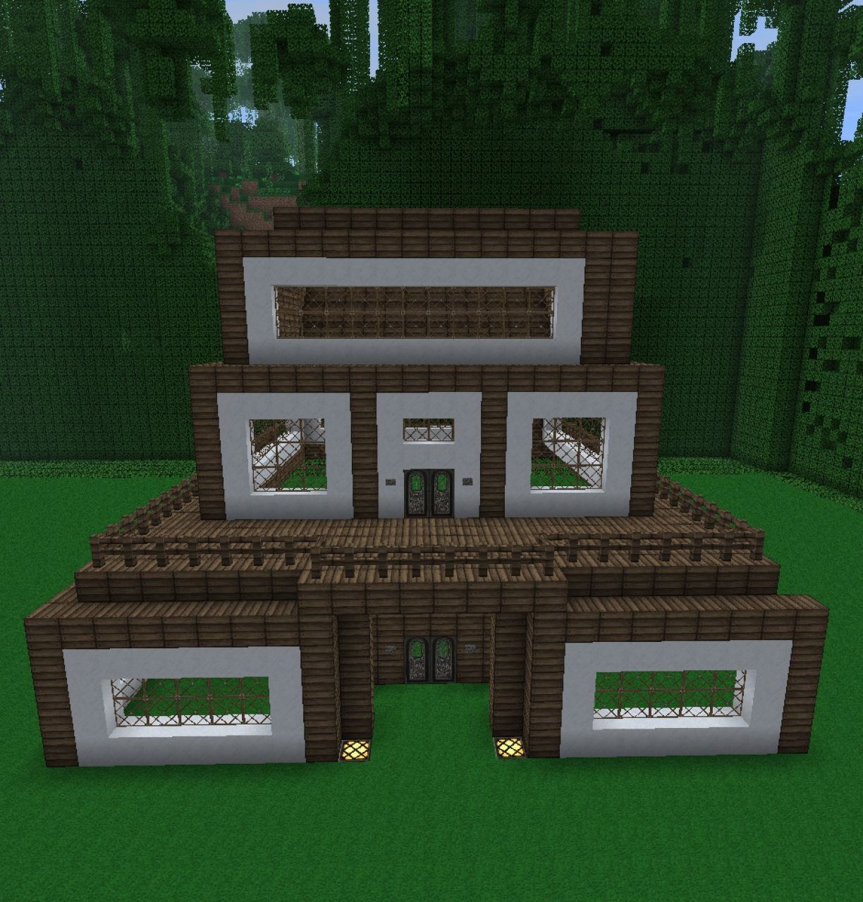 Modern Wooden House Minecraft Project