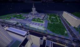 Scale 1:1 Palace of Culture and Science (PKiN) in Warsaw Poland - stage 4 Minecraft Map & Project