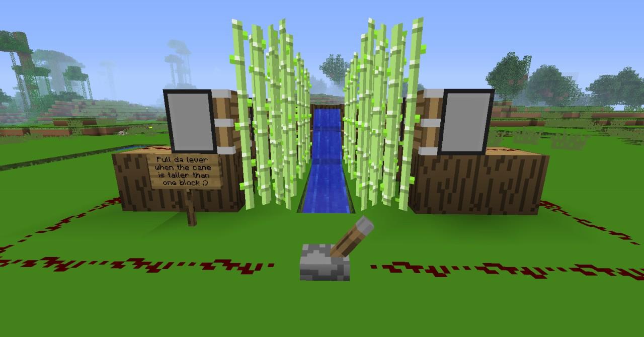 Basic Automatic Sugar Cane Farm! Minecraft Project