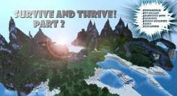 Survive and Thrive!  Series (2) Washed Ashore Minecraft Map & Project