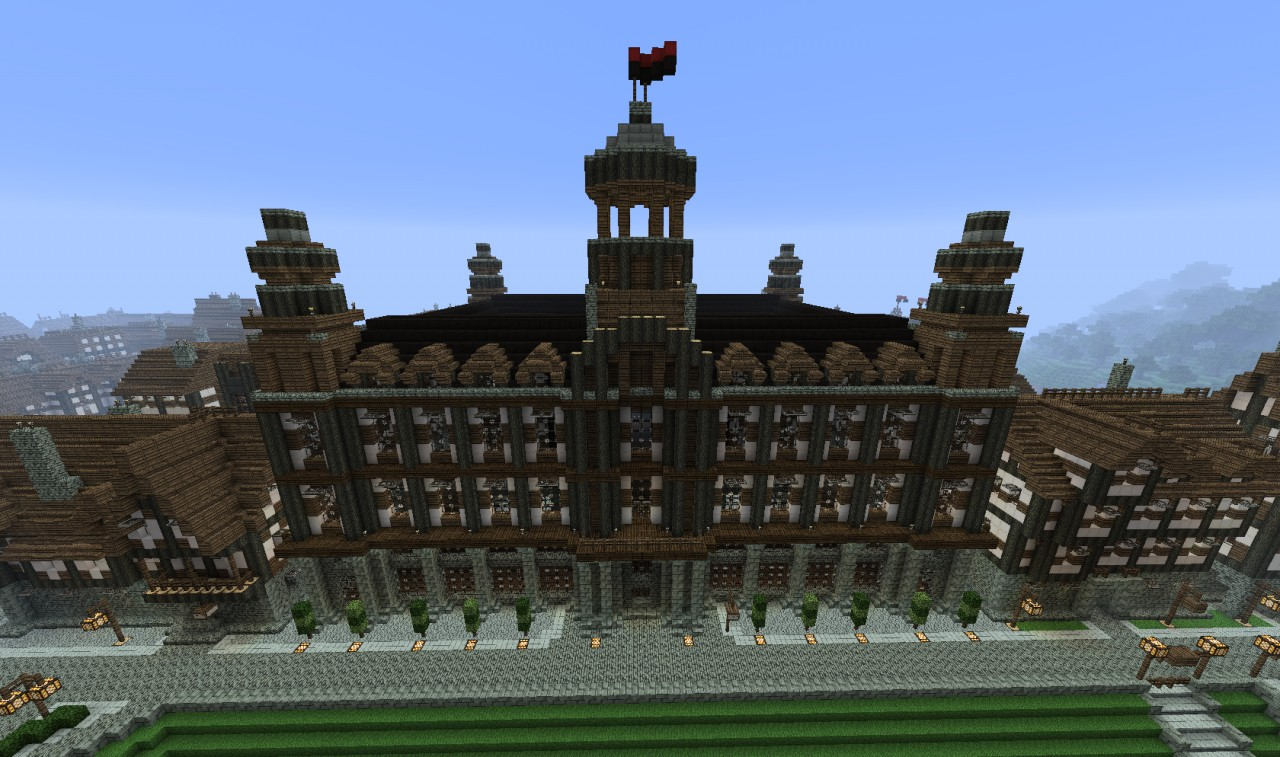Big Medieval Palace Minecraft Project