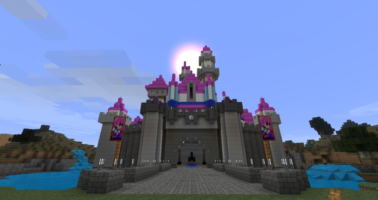 Minecraft Disney Castle Tutorial Disney Castle Minecraft
