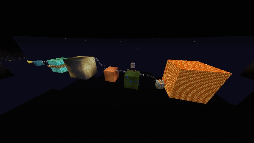 The Solar System With Squares Minecraft Project