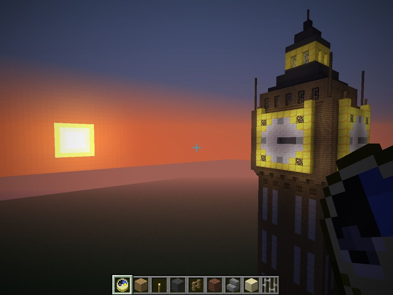how to build a working clock tower in minecraft