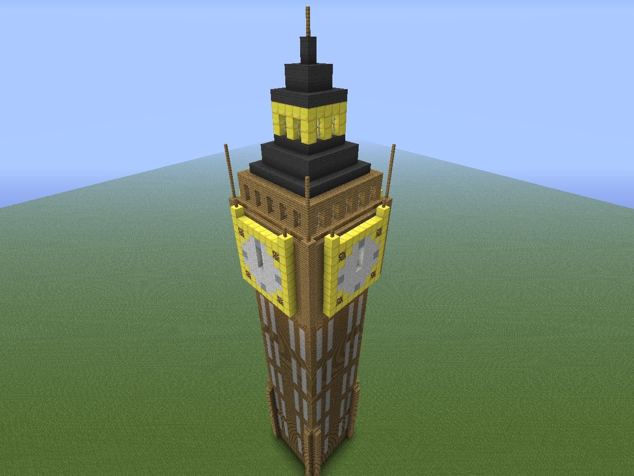 Minecraft Working Clock Related Keywords Suggestions Timer Long Big Ben Tower With Project