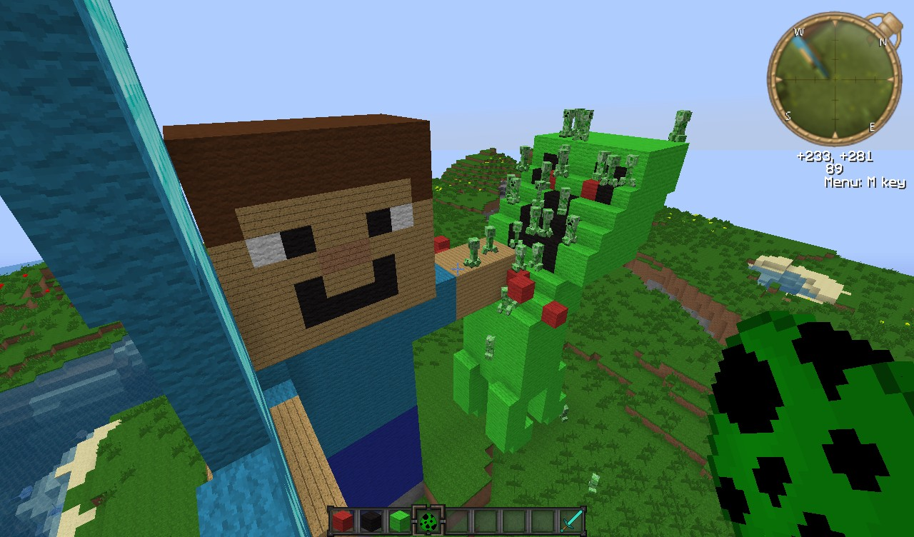 Creeper PWNAGE Cute Baby PIGGYZ AND SNOW MANZ Minecraft ...