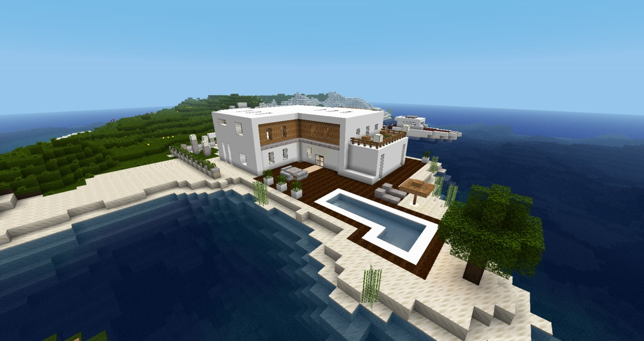 Modern house minecraft project for Modernes haus minecraft