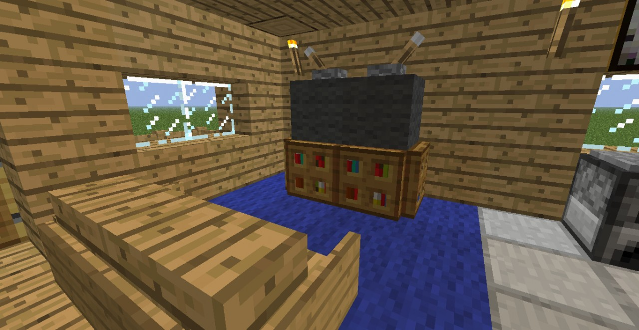 Nice modern house minecraft project - How to make a nice living room in minecraft ...