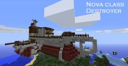 Steam Punk(ish) Airship Nova Class Destroyer Minecraft Map & Project