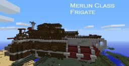 Steam Punk(ish) Airship Merlin Class Frigate Minecraft Map & Project