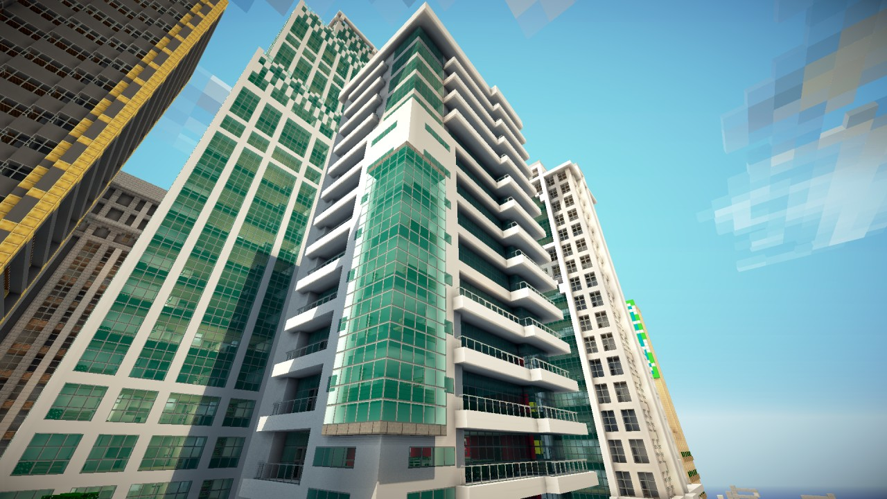 Greenfield project modern seaside apartments minecraft for Apartment complex designs