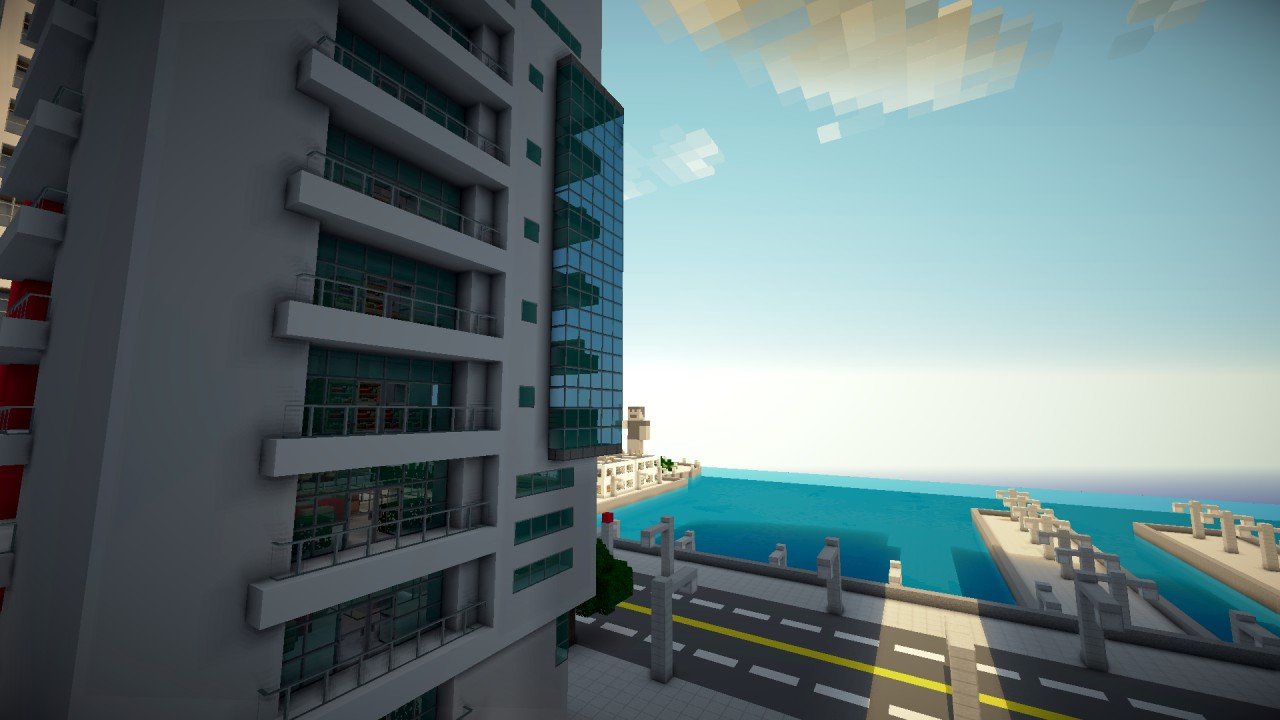 Greenfield Project Modern Seaside Apartments Minecraft Project