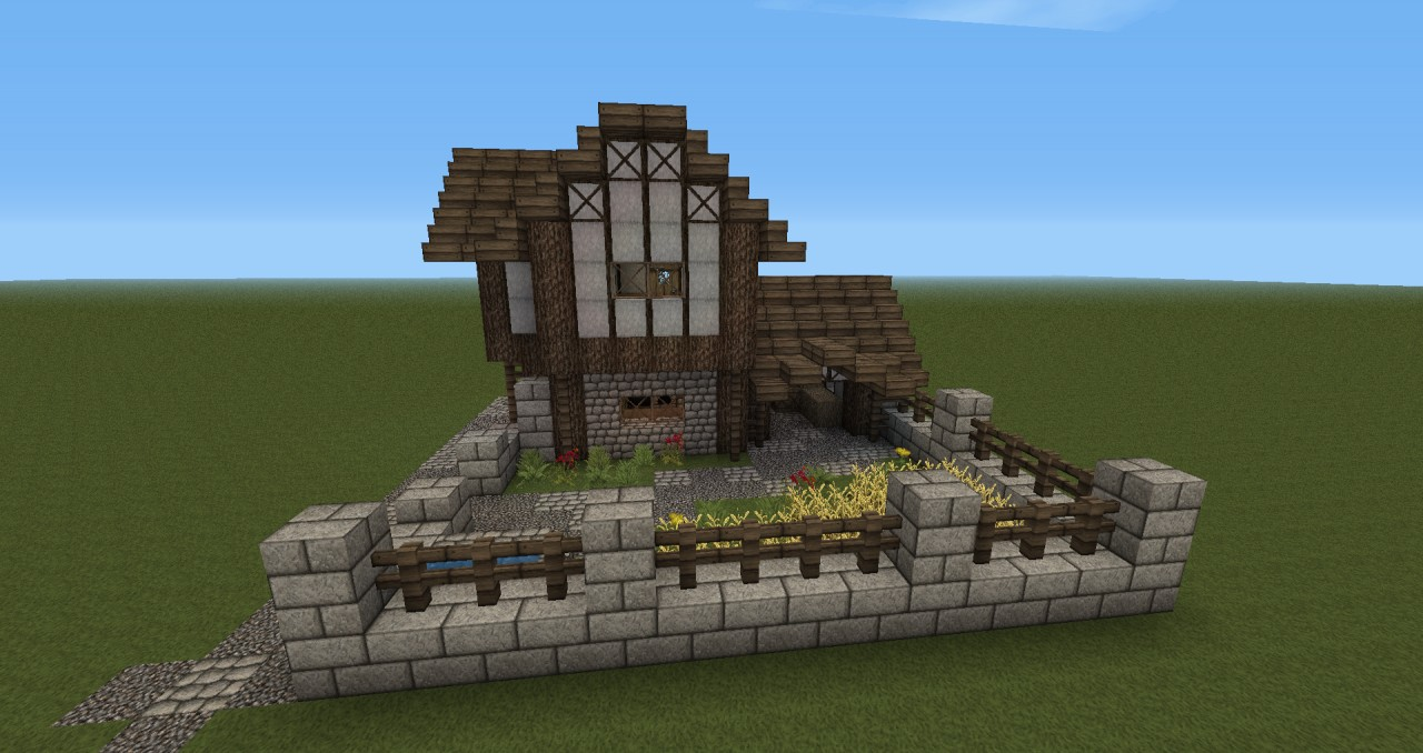 Medieval Middleclass Farm With Minecraft Small House