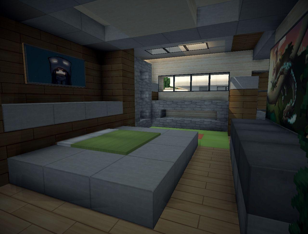 Minecraft modern bedroom ideas the for Bedroom ideas in minecraft