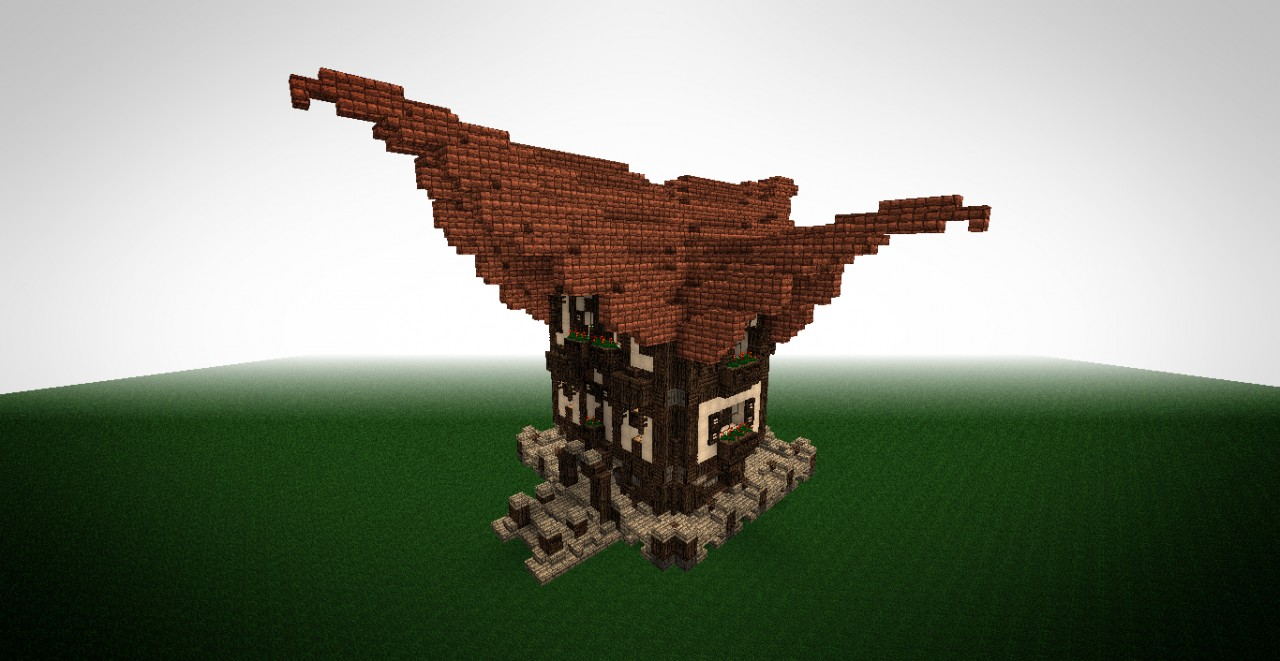 Hyren medium fantasy house minecraft project for Medieval house design