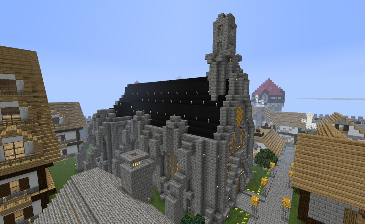 church in the castle district minecraft project