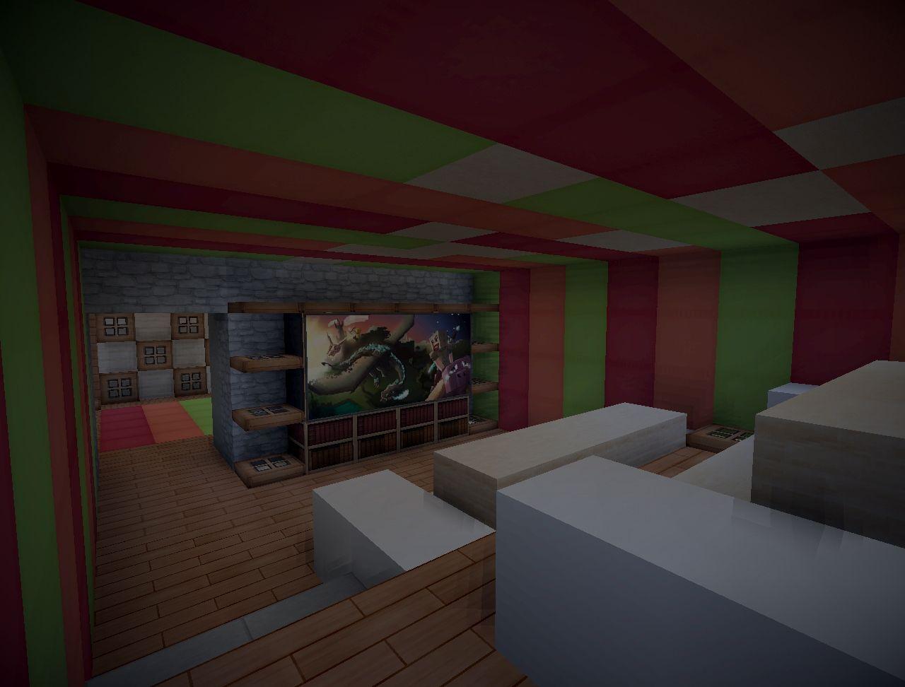 tv room, basement