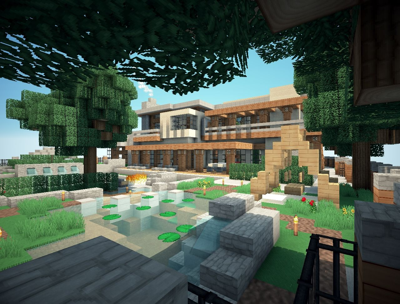 Mansion Minecraft Project on Backyard Ideas For Minecraft id=42407