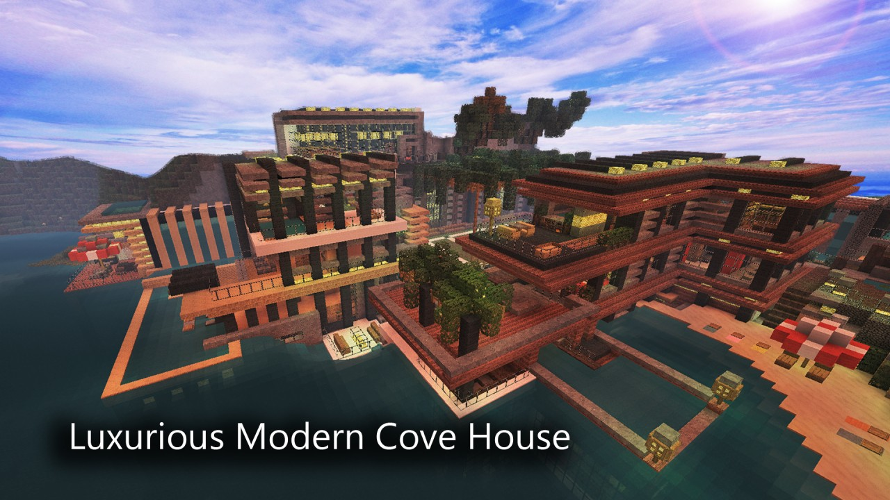 1 8 luxurious cove house map download minecraft forum for Modern house map