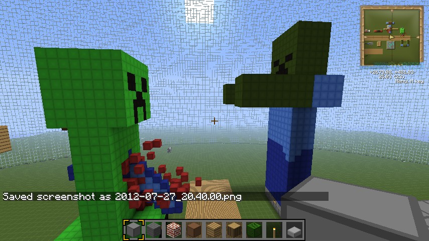 Statues Of Things And Minecraft Players Minecraft Project