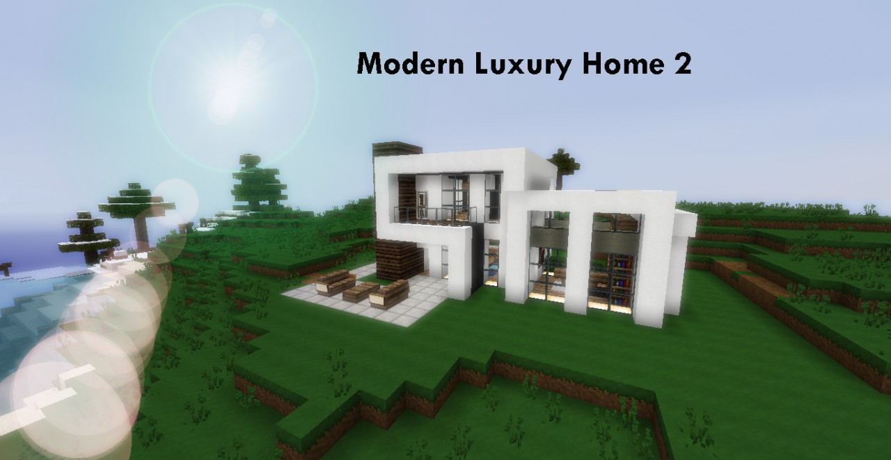 Modern luxury houses 2 minecraft project for Projects of houses