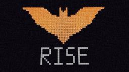 Flaming Dark Knight Rises Logo Minecraft Map & Project