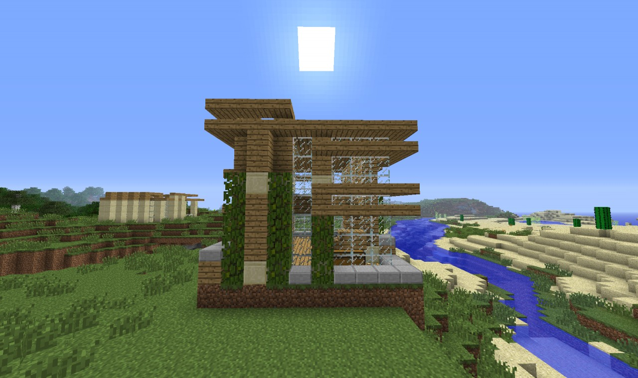 Minecraft 7x7 house design house design for 7x7 modern house