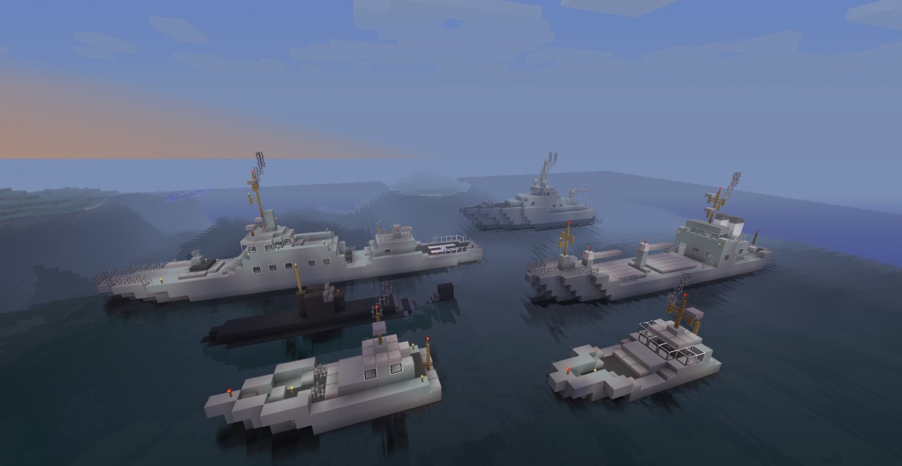 military ships pack