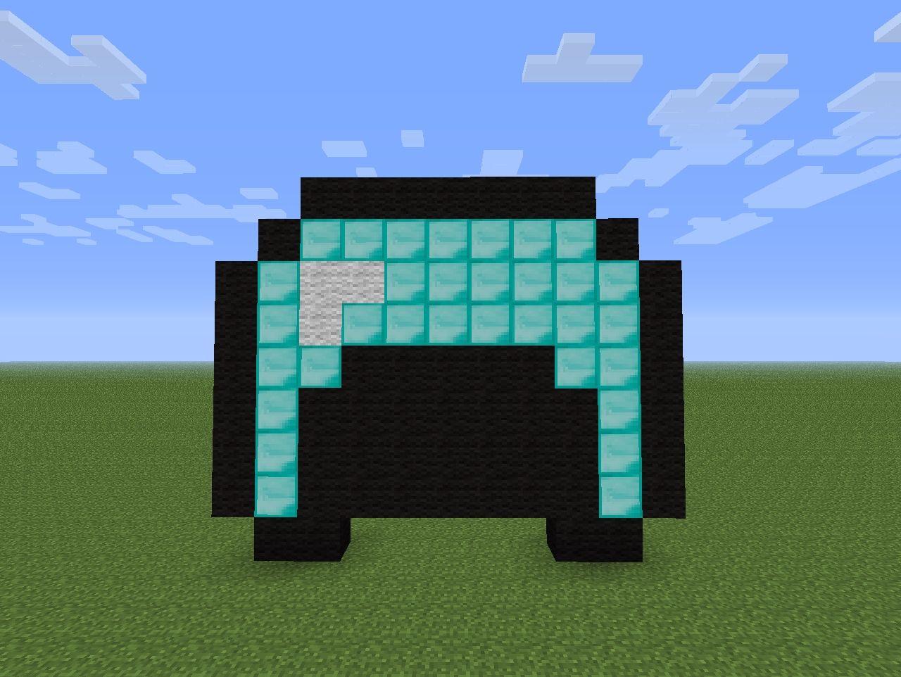 Big Diamond Helmet Minecraft Project