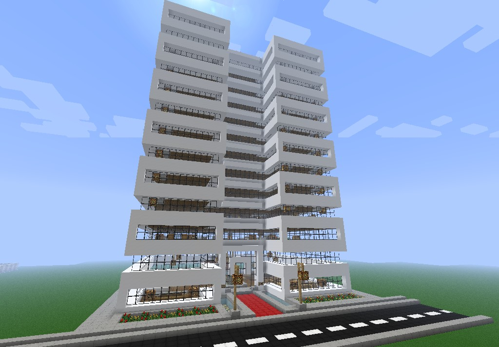 Modern Office Skyscraper Fully Furnished Minecraft Project