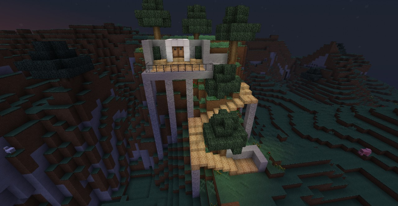 Modern mountain house minecraft project House built into mountain
