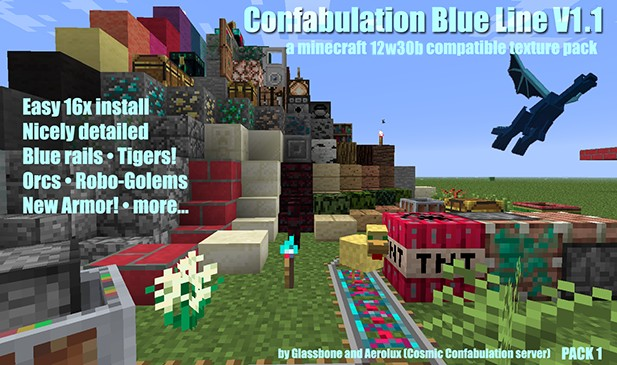 The Confabulation Blue Line V1.1 texture pack.