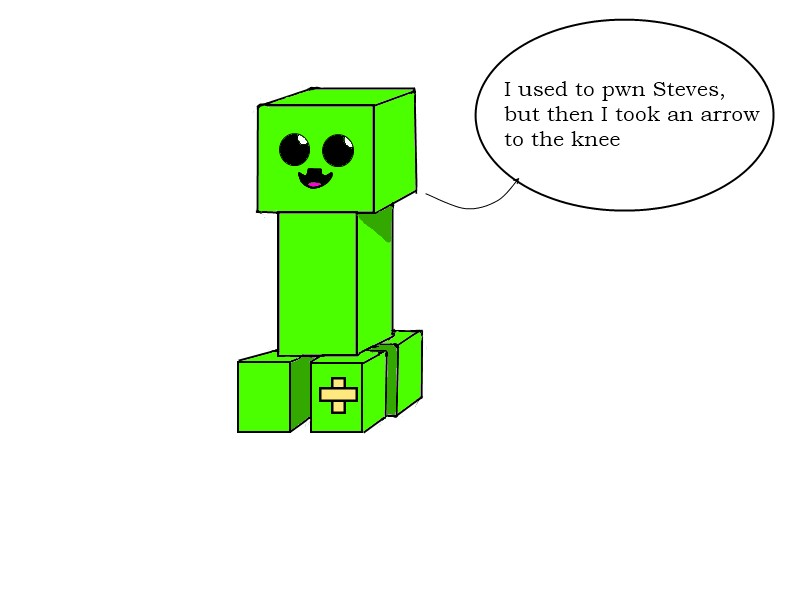Minecraft Cute Creeper for Pinterest