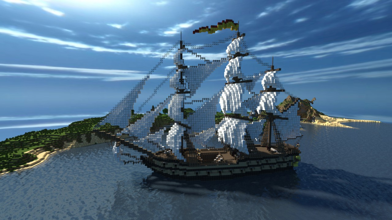 Minecraft Schematic Pirate Ship Boat - Free Vehicle Wiring Diagrams on small minecraft ship plans, small minecraft yacht tutorial, small minecraft village, small boats mod minecraft,