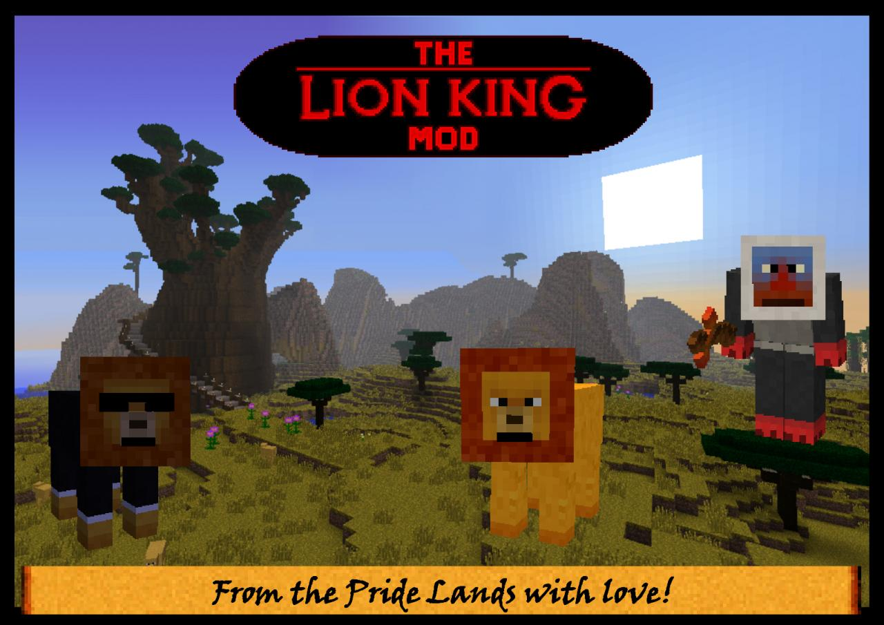 The Lion King Mod - quests, characters, a new dimension and much much more!