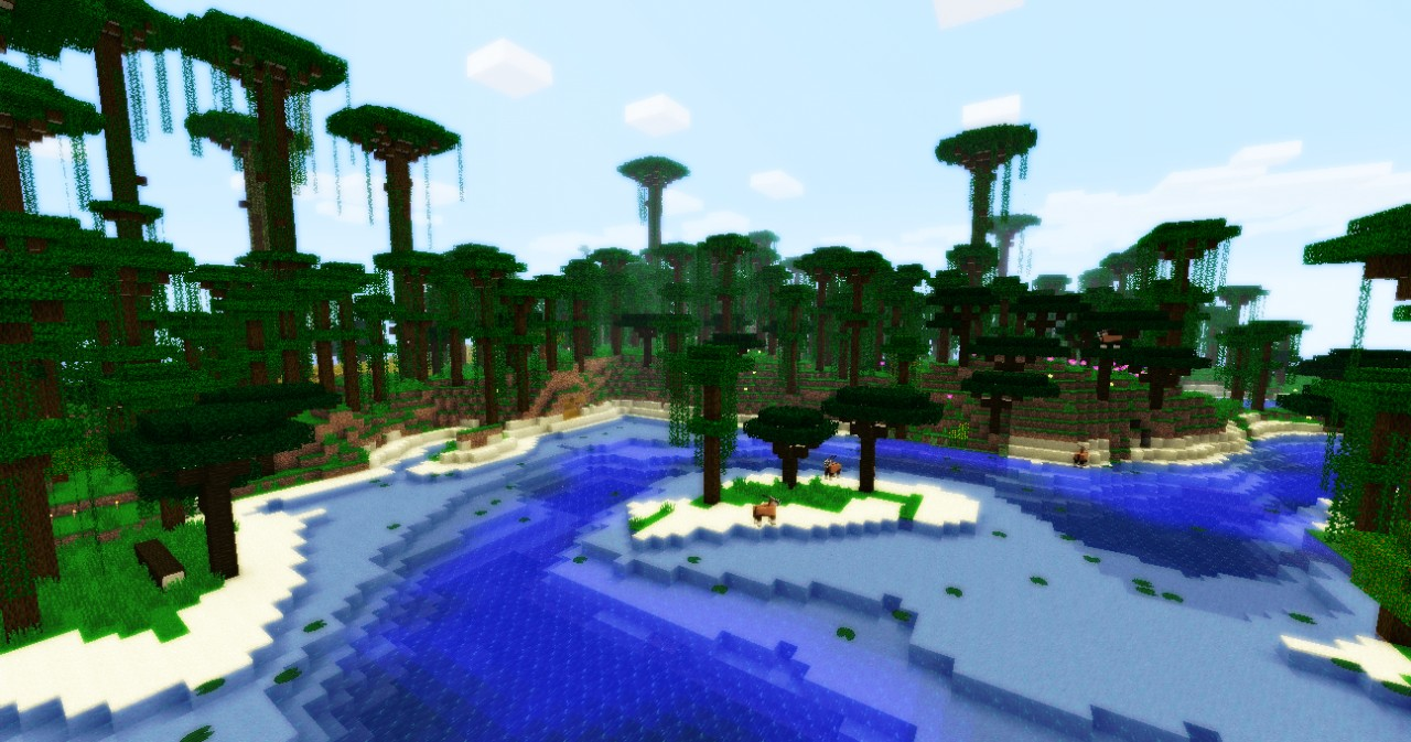 A rainforest biome in the Pride Lands.
