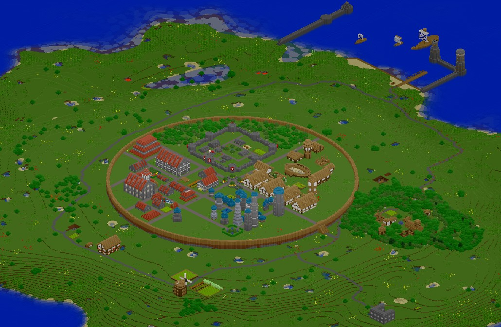 Contest How To Make A Good Citytownvillage on Cool Things To Build A City In Minecraft
