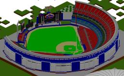 Baseball Stadium - Shea Stadium Minecraft Map & Project