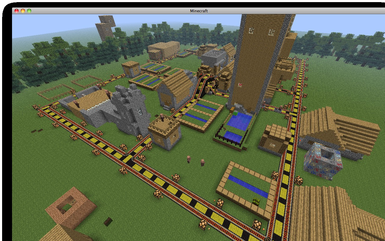 Modern village awesome dungeons minecraft project for Village town