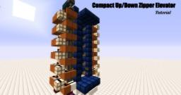Tutorial - Compact Up/Down Zipper Elevator Minecraft Map & Project
