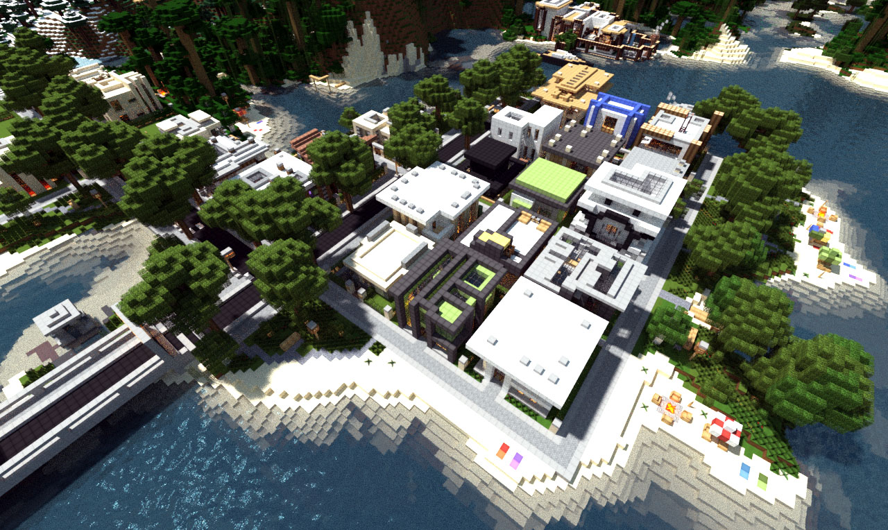 Modern neighborhood on world of keralis