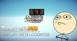 Challenge accepted - 3 digits display with up & down counter & reset - 7 segment Minecraft Project