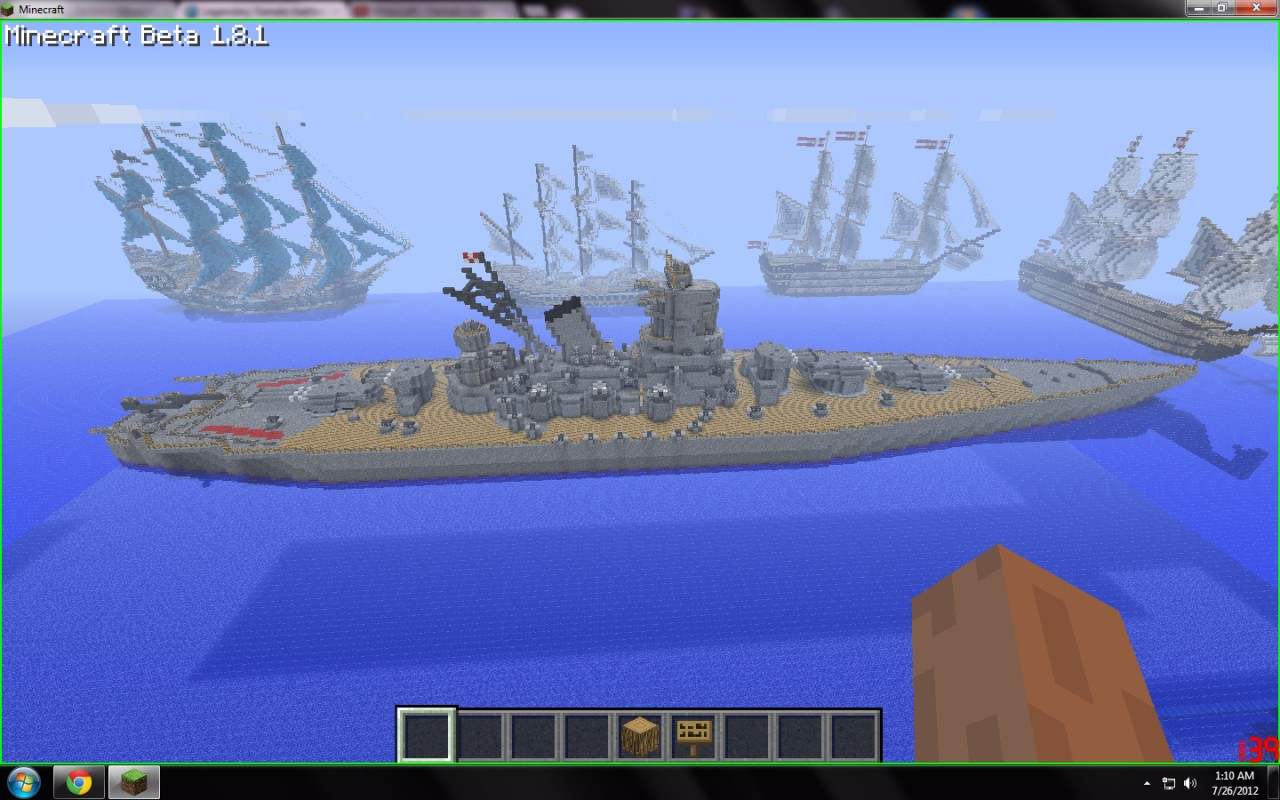 minecraft how to build warships