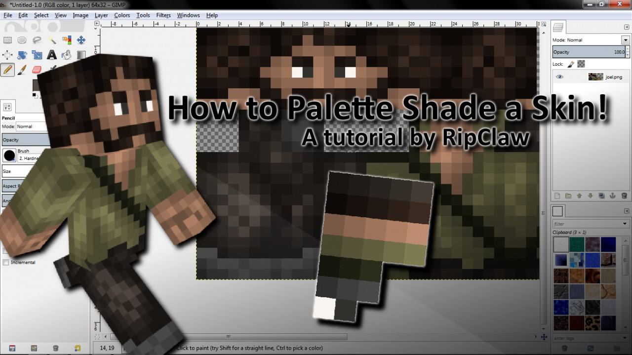 How to palette shade a skin contest updated with tips for Minecraft shade template
