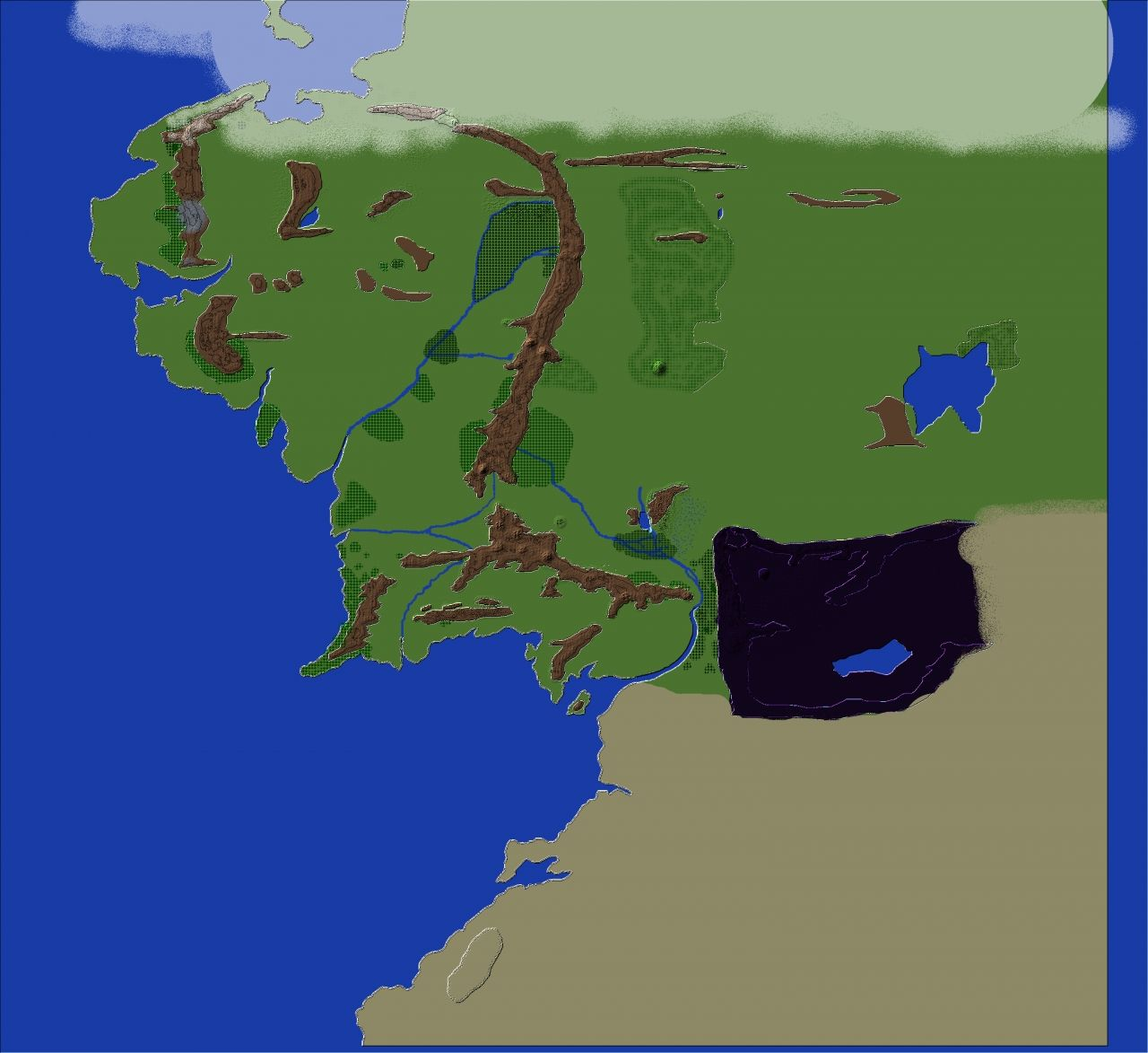 Middle-Earth- Lord of the Rings worldpainter Minecraft Project