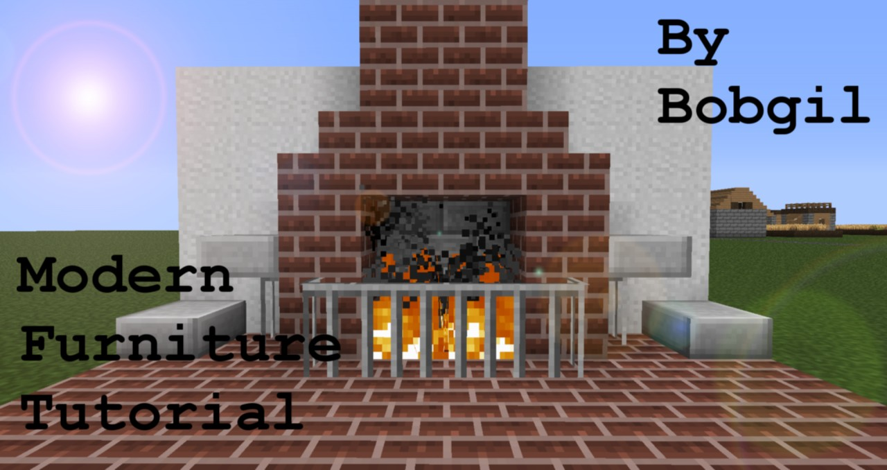 Modern furniture tutorial contest minecraft blog Living room furniture minecraft