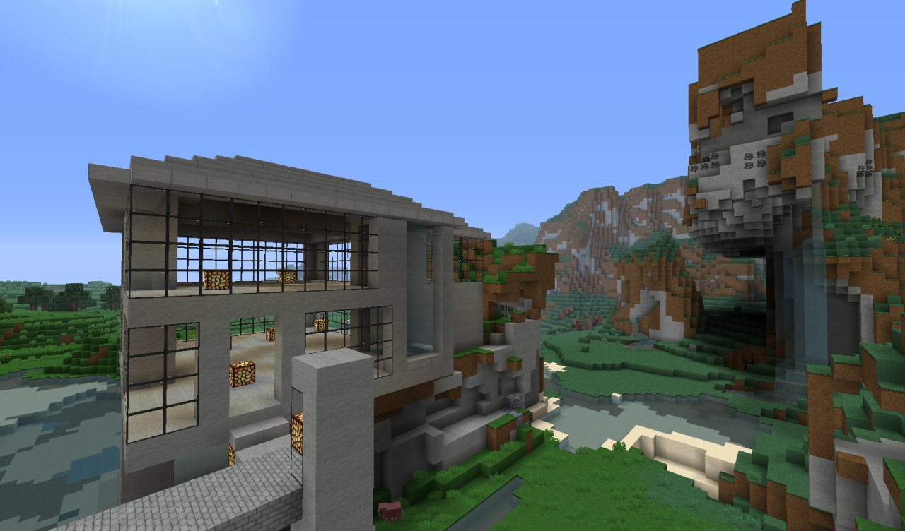 Minecraft modern city includes download minecraft project for Minecraft modern