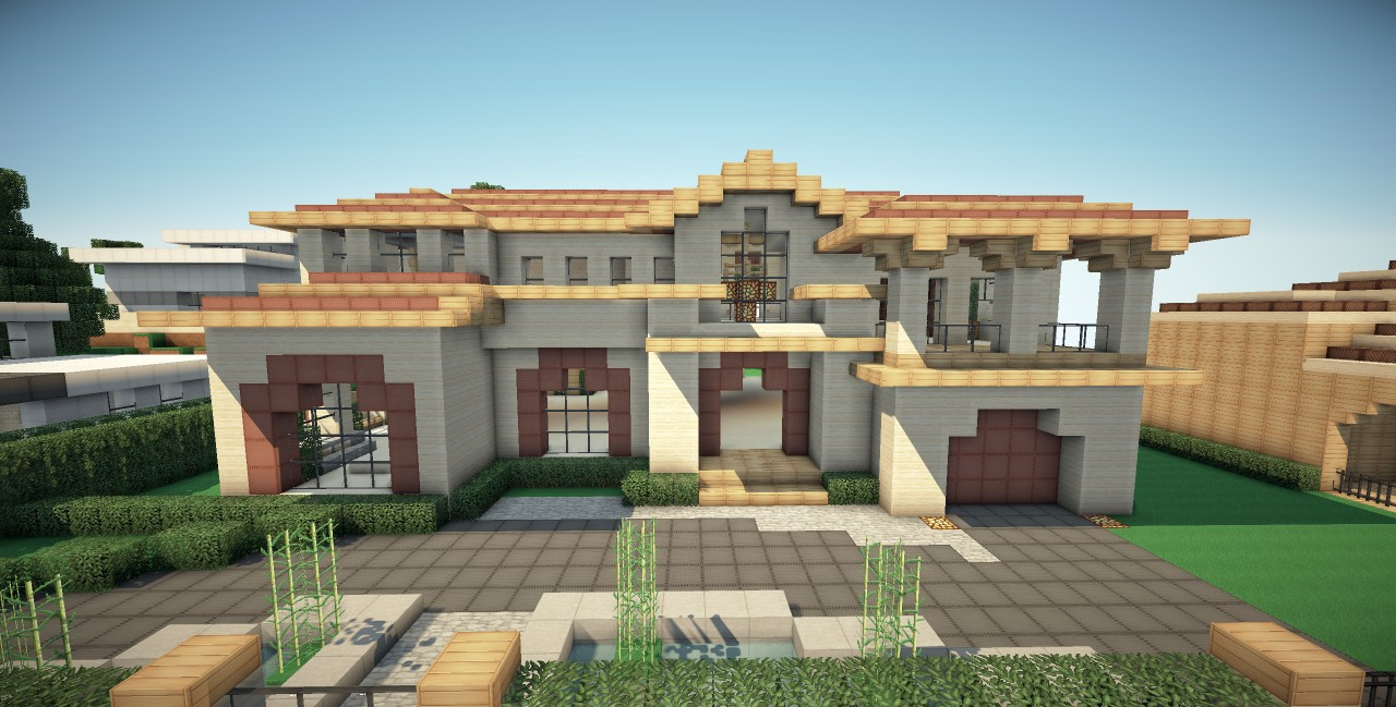 Beverly Hills Mansion Minecraft Project